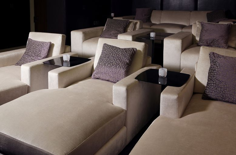 Luxurious Bespoke Chaise Longue Chairs And Sofa In Cinema Room Cheap Dining Room Chairs Sofa And Chair Company Cinema Room Design