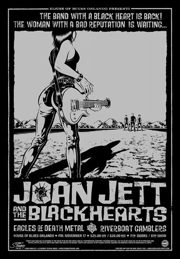 Joan jett and the blackhearts original signed numbered concert poster 2006 hot