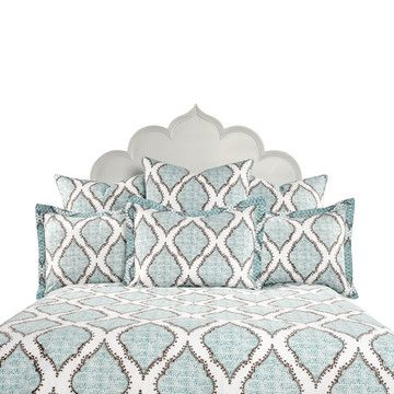 Mali Duvet King White Teal, $360, now featured on Fab.