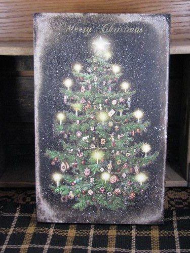 Lighted Canvas Print - Christmas Tree Christmas Decorations