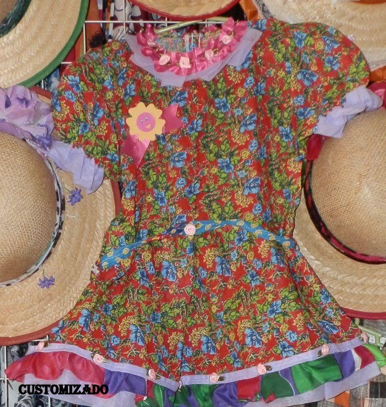 vestidinho p festas juninas e julinas, customizadfo.