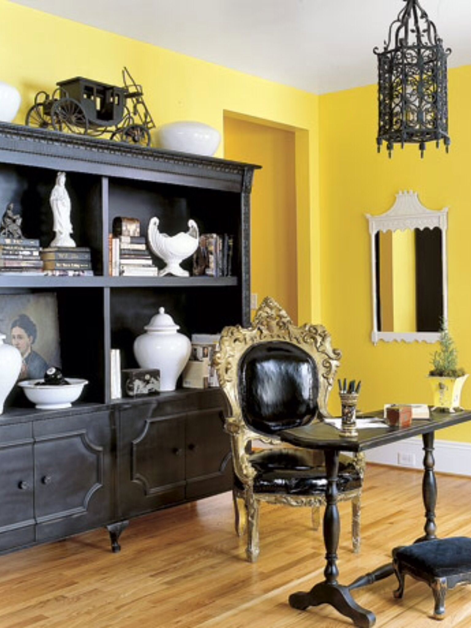 Home Office | Yellow home decor, Yellow room, Yellow decor