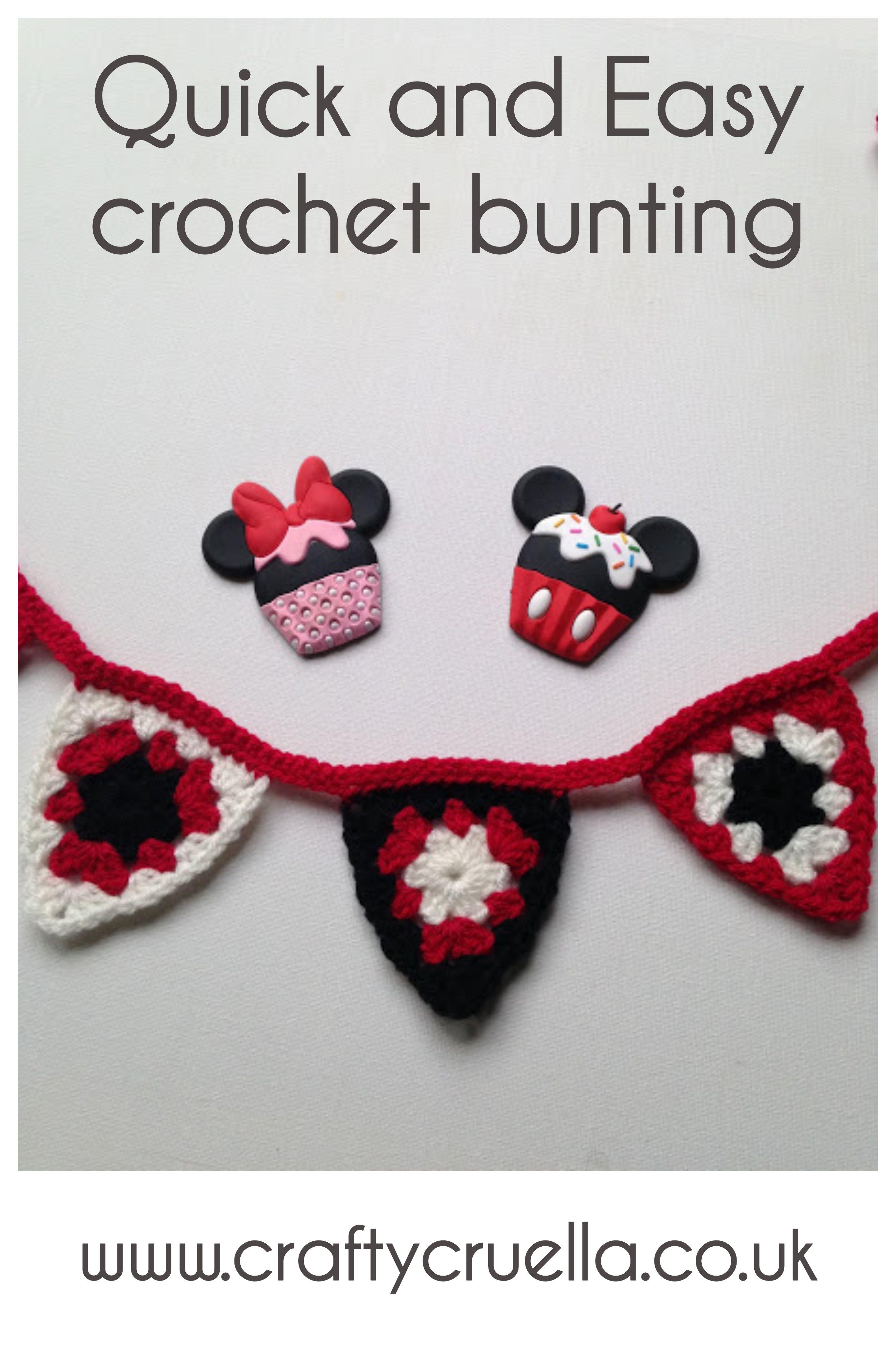 Quick and Easy Crochet Bunting | Pinterest | Patrones amigurumi ...
