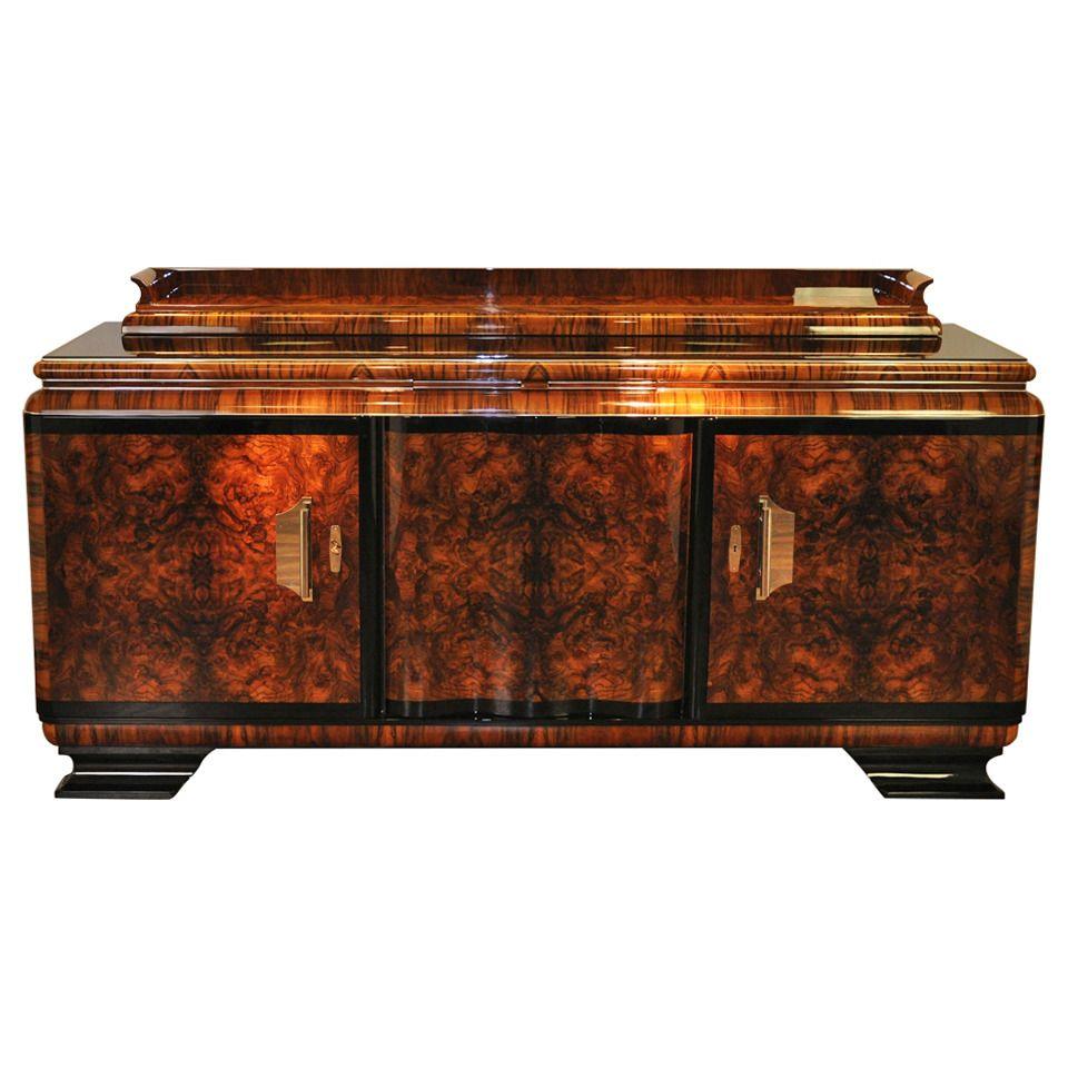 Art Deco Burl Sideboard Art Deco Muebles Art Deco Y Muebles  # Muebles Musiqueros Antiguos