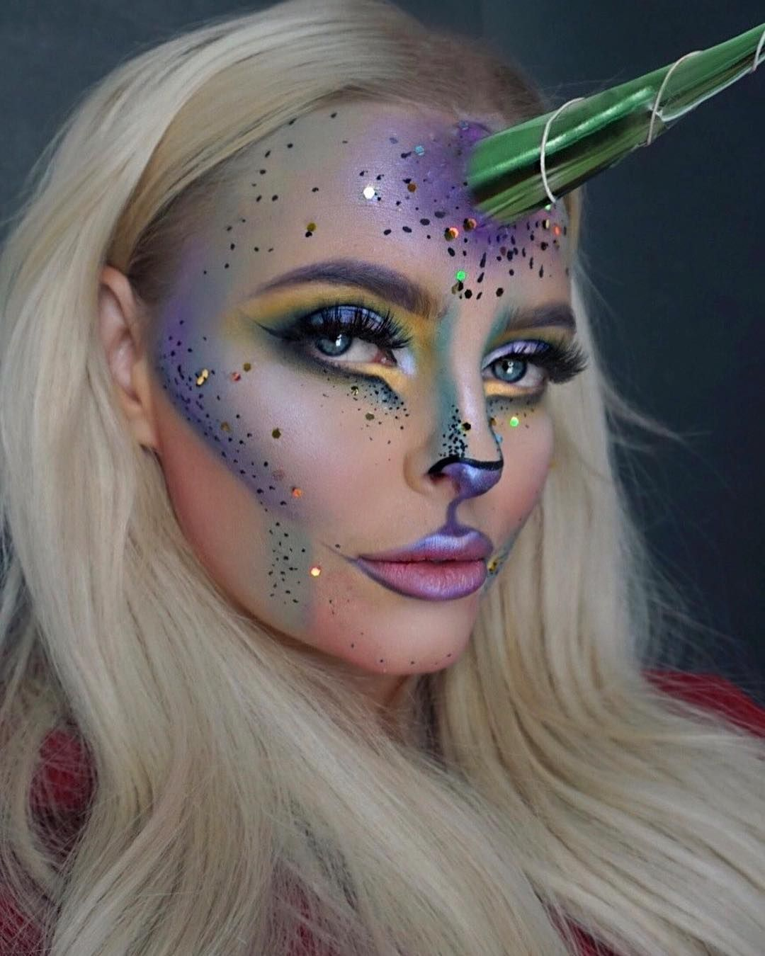 Unicorn makeup is trending this year for Halloween! Our