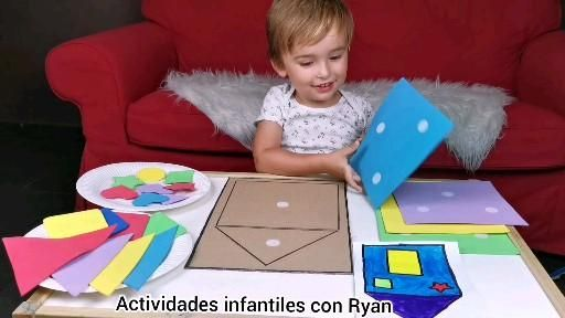 Diy game Learning Shapes funny activity building houses for kids, figuras geométricas