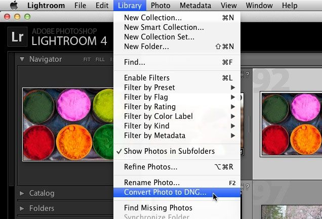 Lightroom converting to dng