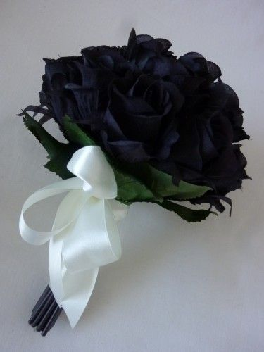 Black Rose Bud Bouquet