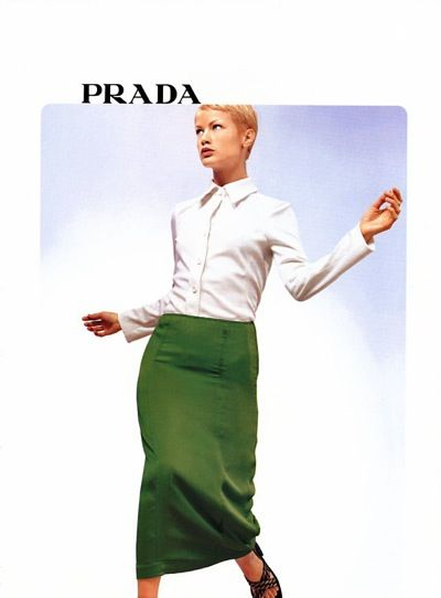 Prada image from 1996 ad campaign with Carolyn Murphy