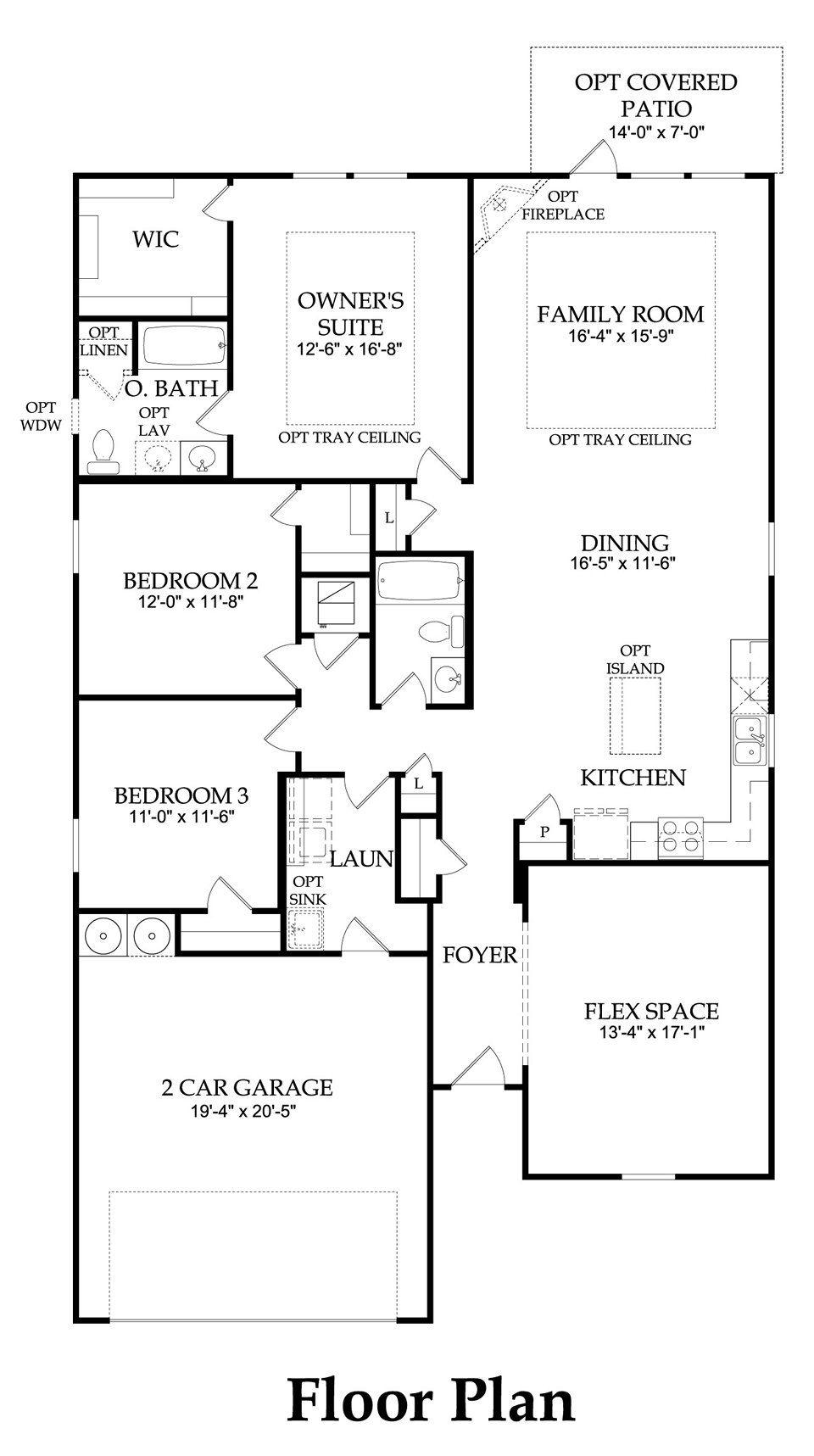 Stirling Bridge Austin Tx New Homes Centex Homes Compton Floor Plan 1951sq Ft 3 4 Bedrooms 2 3 Baths Floor Plans How To Plan Houses In Austin