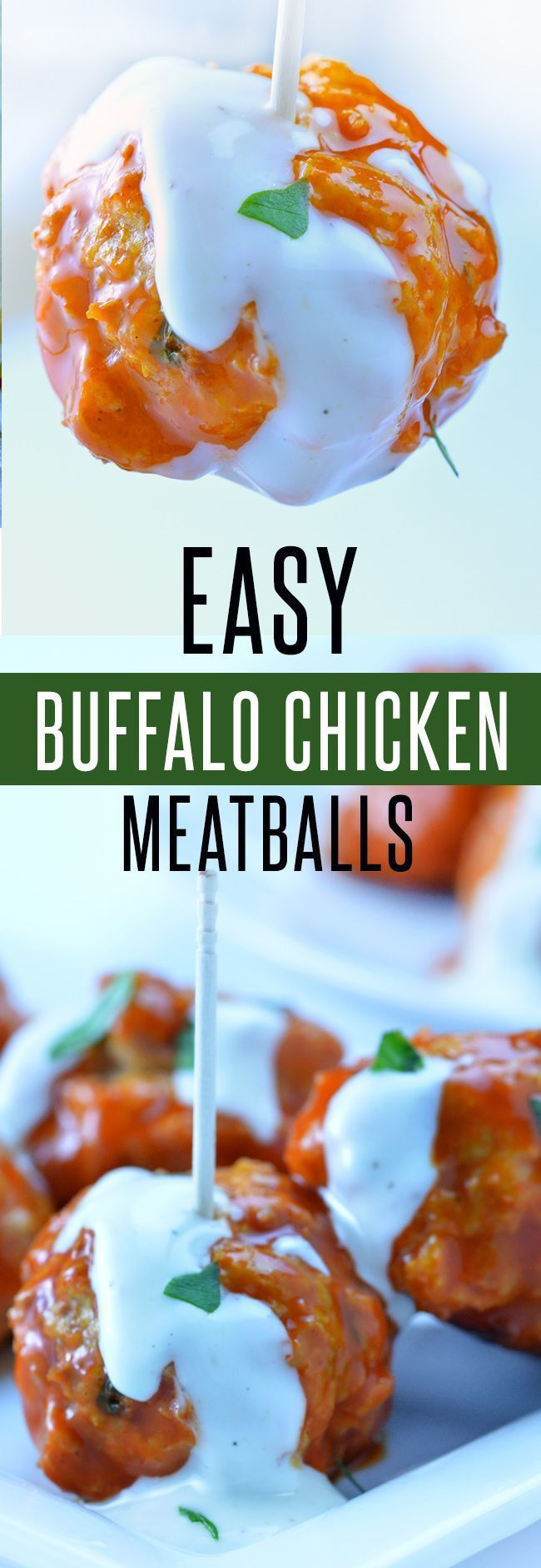 Easy Buffalo Chicken Meatballs (Oven, Slow Cooker or Instant Pot)