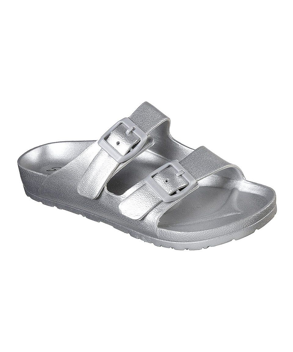 d89ea694b891 Take a look at this Silver Cali Breeze Glow Power Sandal - Women today!