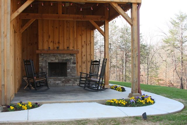 Pin By Steven Popwell On Porch Ideas Barn House Design Barn House Rustic Patio