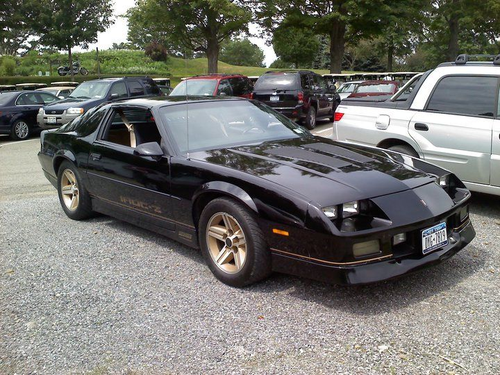 1985 Chevrolet Camaro Iroc Z Black With Gold Highlights And