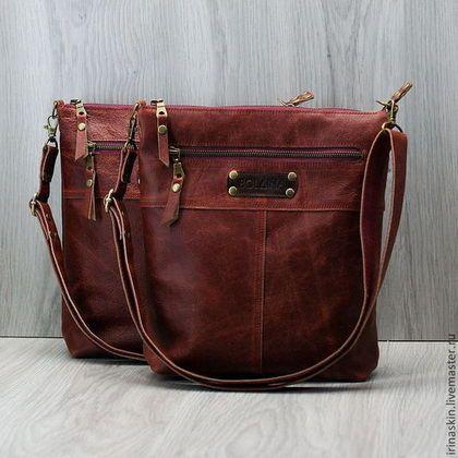 b1e56e10e215 Женские сумки ручной работы. Ярмарка Мастеров - ручная работа Кожаная сумка-планшет  на плечо