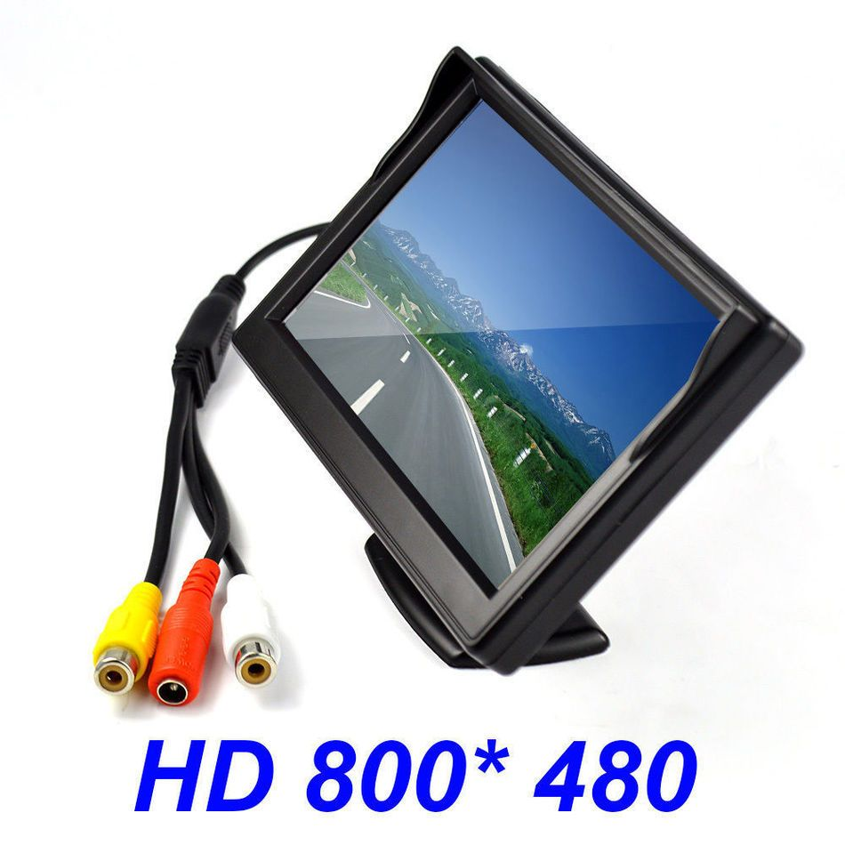 "New 5"" Inch HD 800x480 TFT LCD Screen Auto Car Monitor Display For DVD GPS Reverse Backup Camera Vehicle driving accessories"