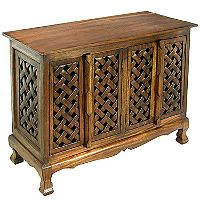Lattice Design Storage Cabinet/Sideboard - Dark - Sam's Club