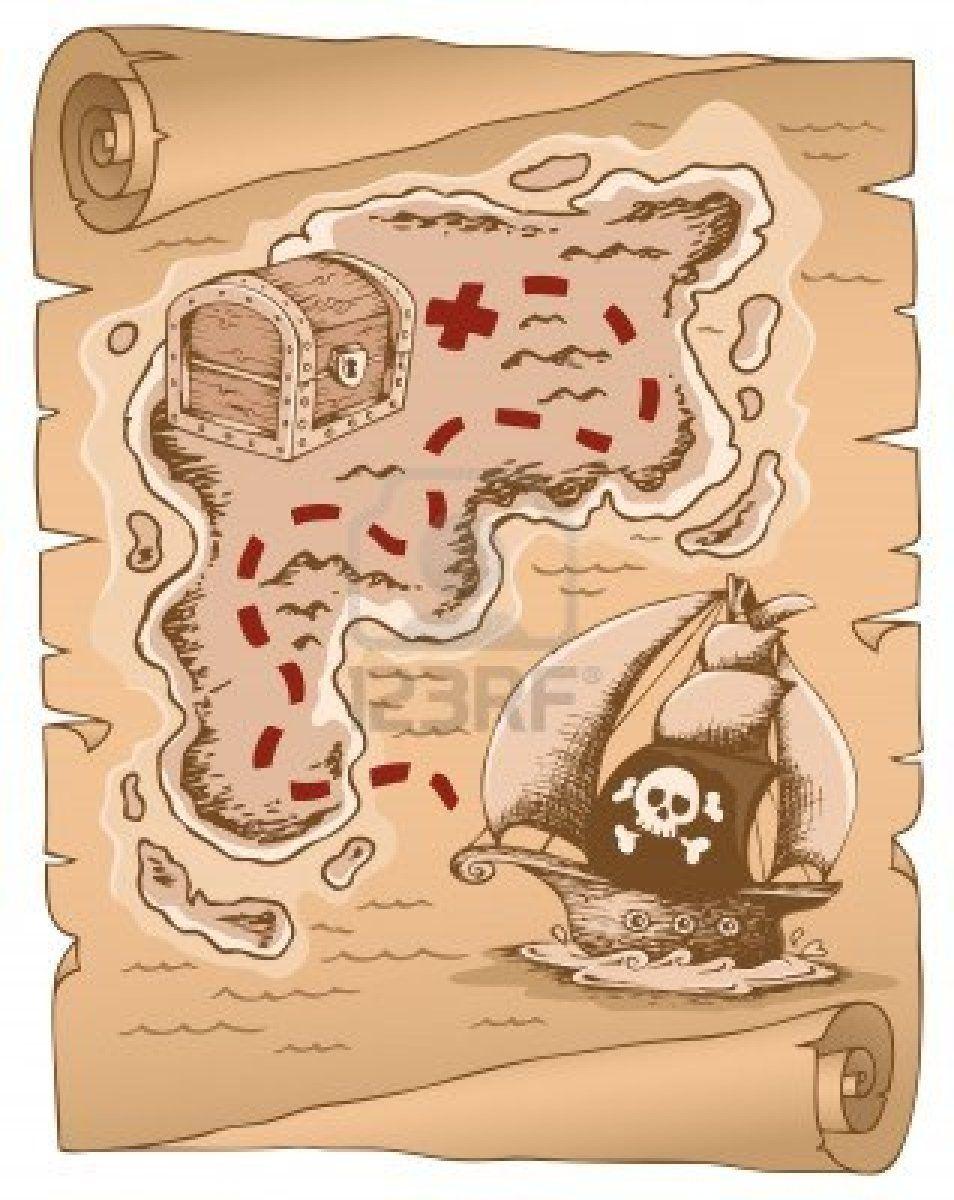 Perkament Met Schatkaart Schatkaarten Piratenschat Diy Voor Kinderen