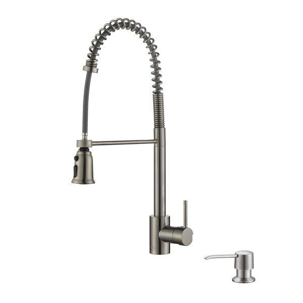 stainless steel commercial style kitchen faucet soap dispenser – Overstock Kitchen Faucets