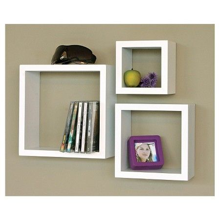 Set Of 3 Cubbi Shelves White Cube Wall Shelf Wall Shelves