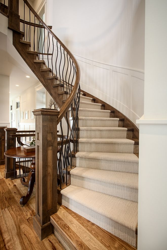 Best Staircase Is Open Stringer Closed Risers With Hickory 400 x 300