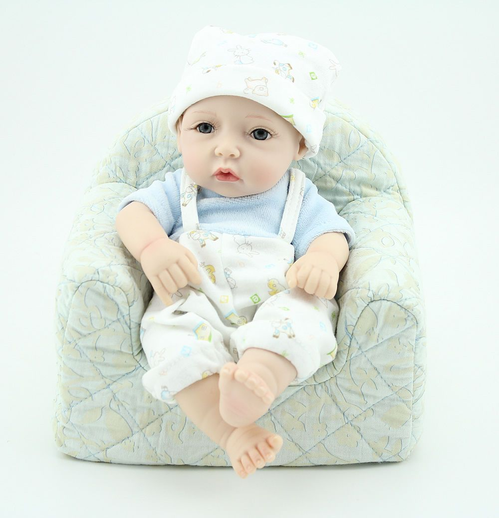 "NPK Hot Sale Soft Vinyl Silicone Reborn Doll 10/"" Reborn Baby Doll Lifelike Baby"