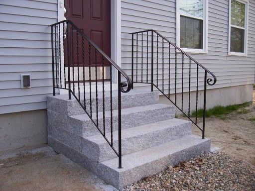 Exterior interior wrought iron railings handrails - Exterior wrought iron handrails for steps ...