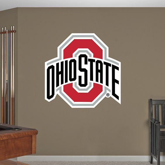 Ohio State Buckeyes: Logo - Giant Officially Licensed Removable Wall Decal Wall Decal | Shop Fathead® for Ohio State Buckeyes Decor