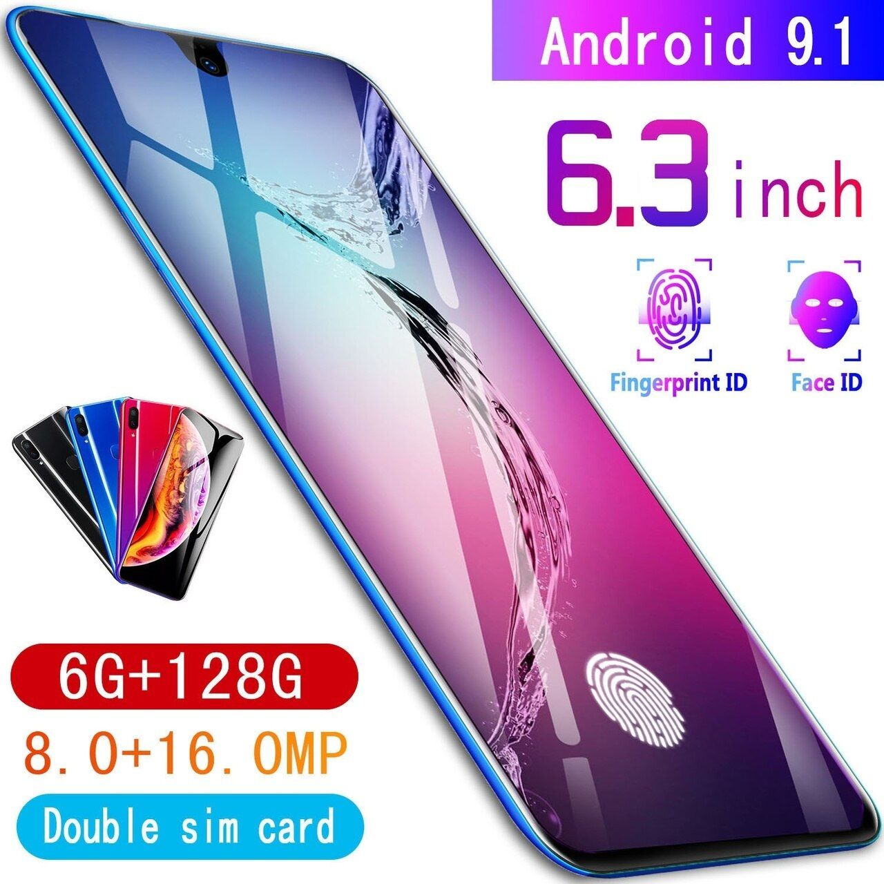 New X23 Android 9.1 High Quality 6G+128G Water Drop Screen