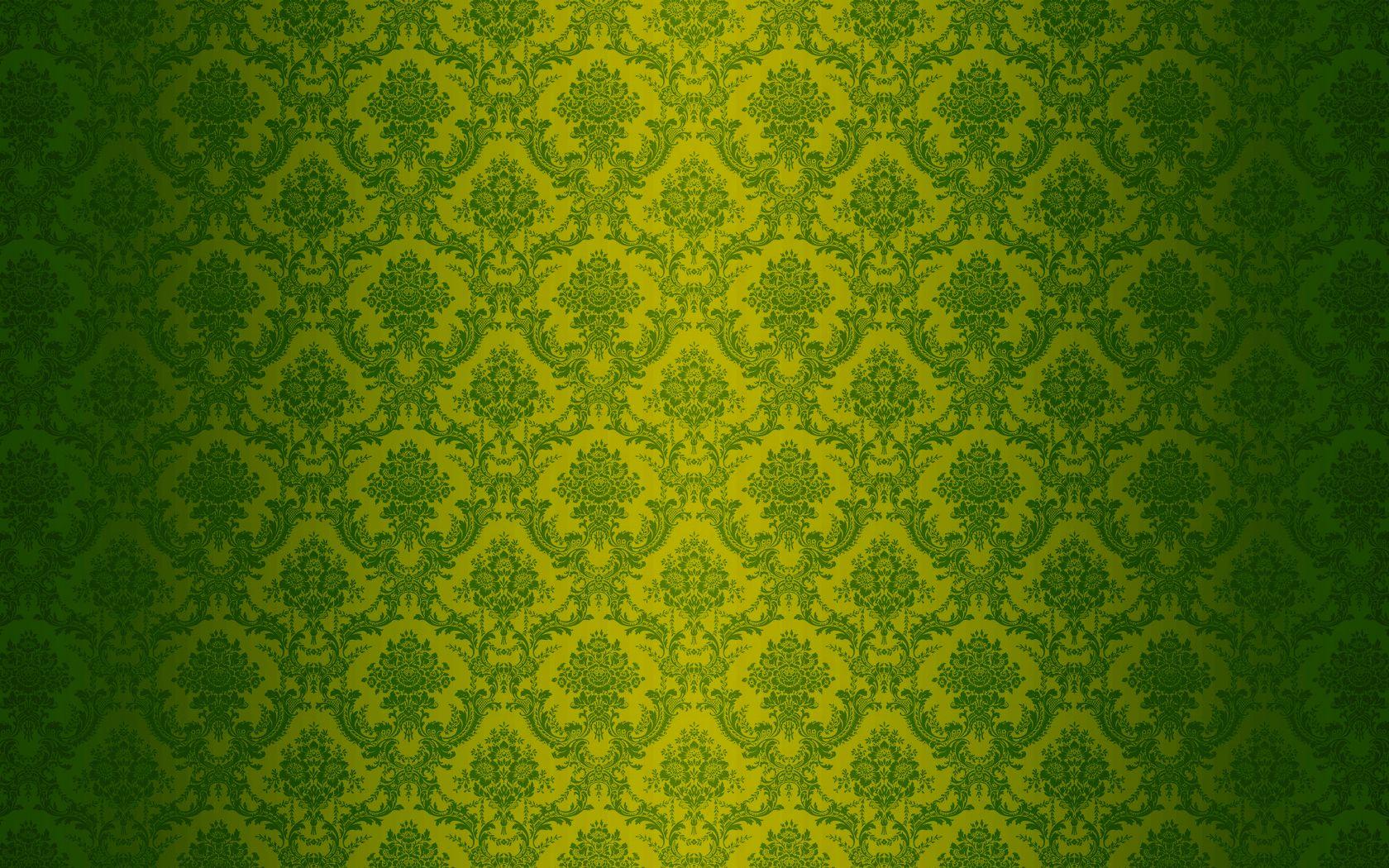 Green Damask Computer Wallpaper