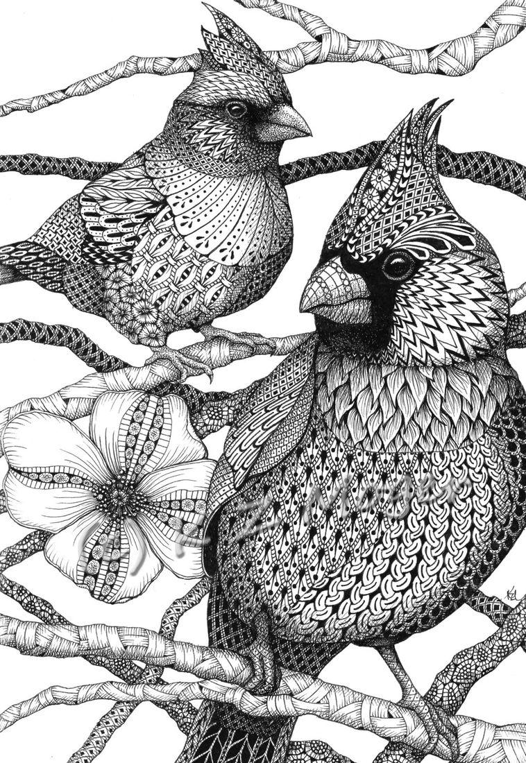 Domestic And Wild Zentangle Animal Portraits – Zentangle Animals