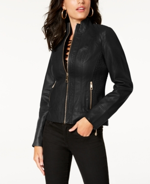 855475681 GUESS Faux-Leather Moto Jacket in 2019 | Products | Moto jacket ...