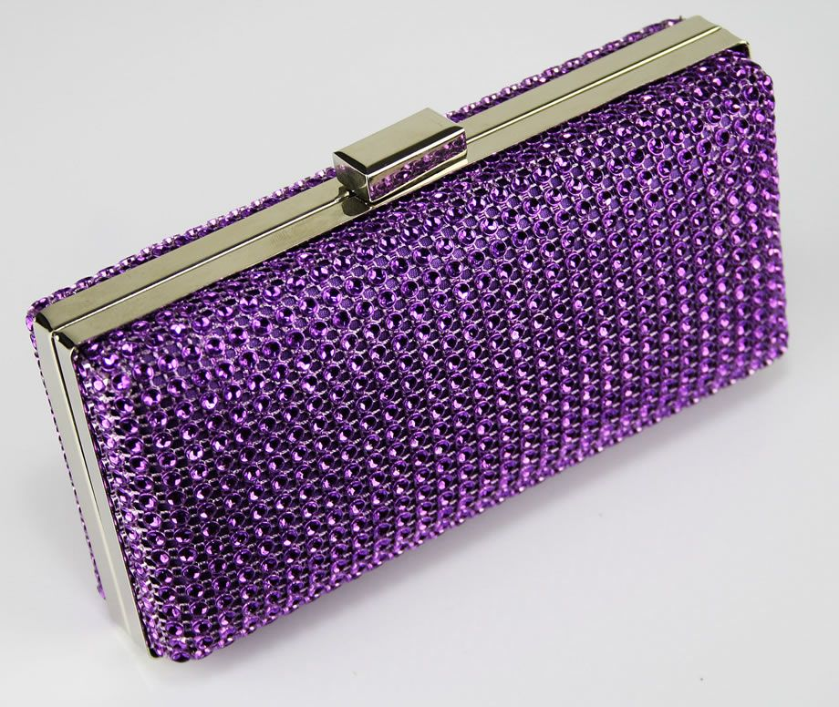 purple purses | Womens Designer Handbags - Ladies Purple Sparkly ...