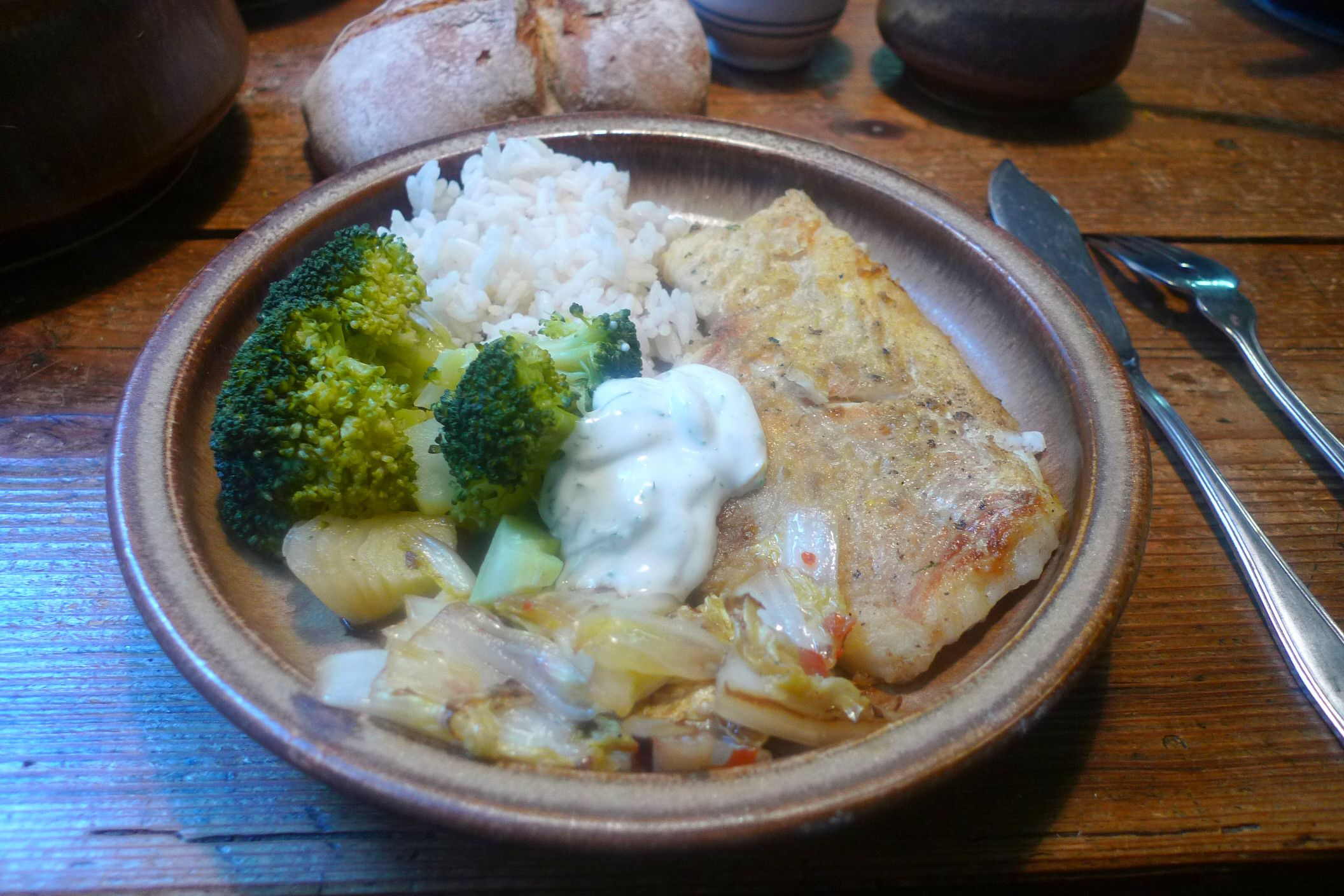 Kabeljau auf Fenchel-Reis