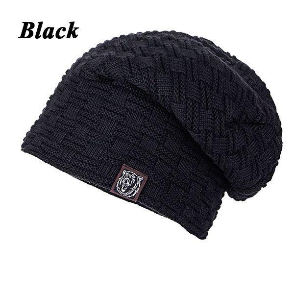 Beanies Knit Men s Winter Hat Caps Skullies Bonnet Winter Hats For Men  Women Beanie Fur Warm Baggy Wool Knitted Hat WM052 431995183710