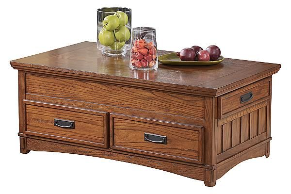 The Cross Island Lift Top Coffee Table From Ashley Furniture Homestore Afhs Com The Richly Deta Coffee Table Lift Top Coffee Table Coffee Table With Drawers
