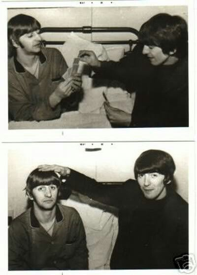 George taking care of Ringo while Starr is sick in the ...