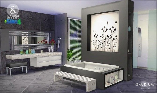 Bathroom Design Games Gaudium Bathroom At Simcredible Designs 4  The Sims  Pinterest