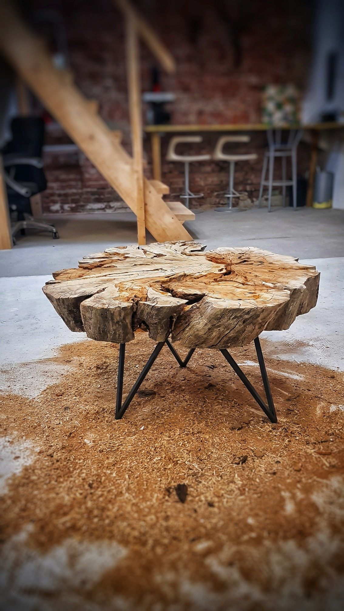 - Coffee Table Made From Old Oak Stump Stump Coffee Table, Old