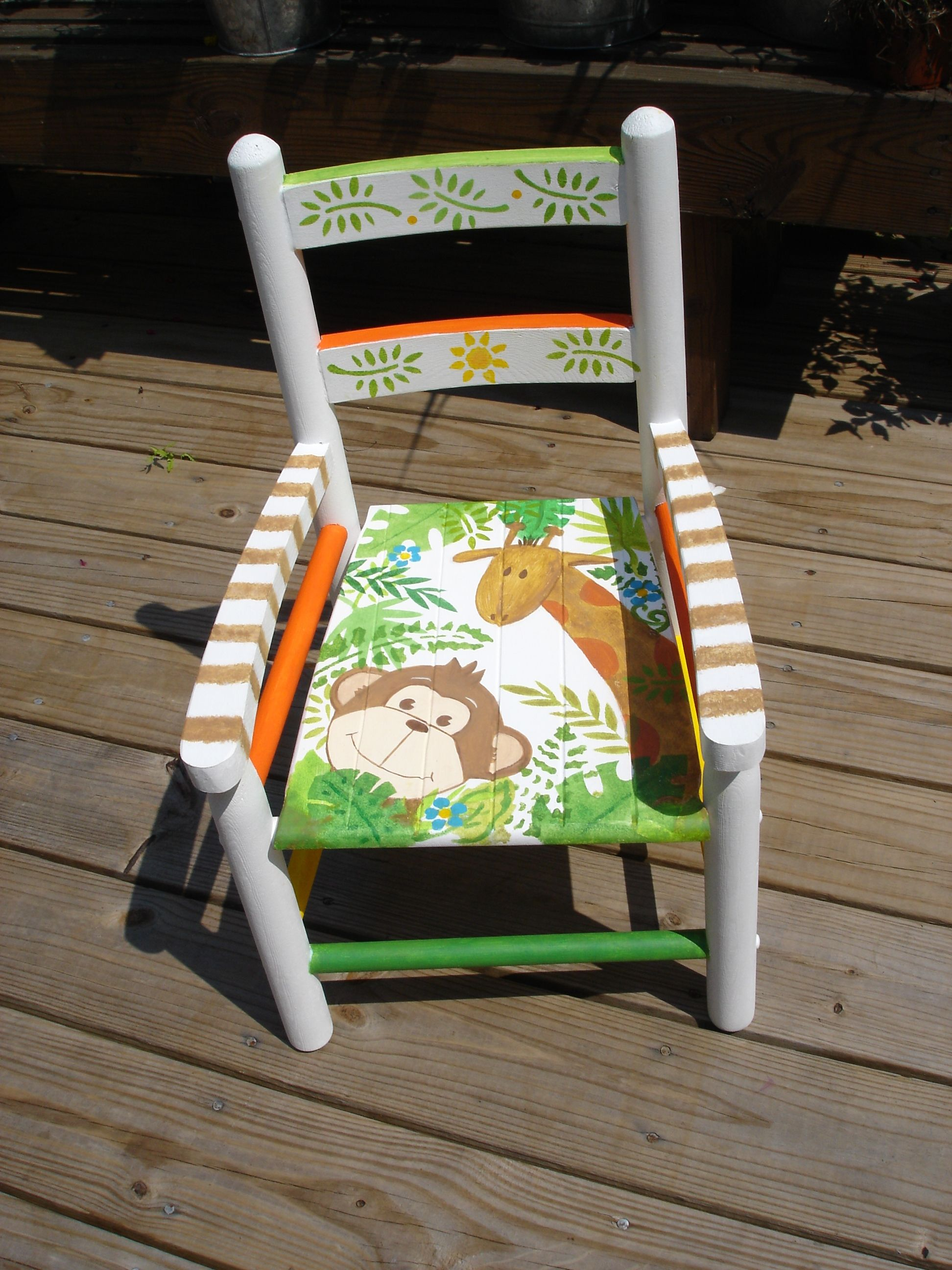 Hand Painted Child S Chair My Creations Painted Kids