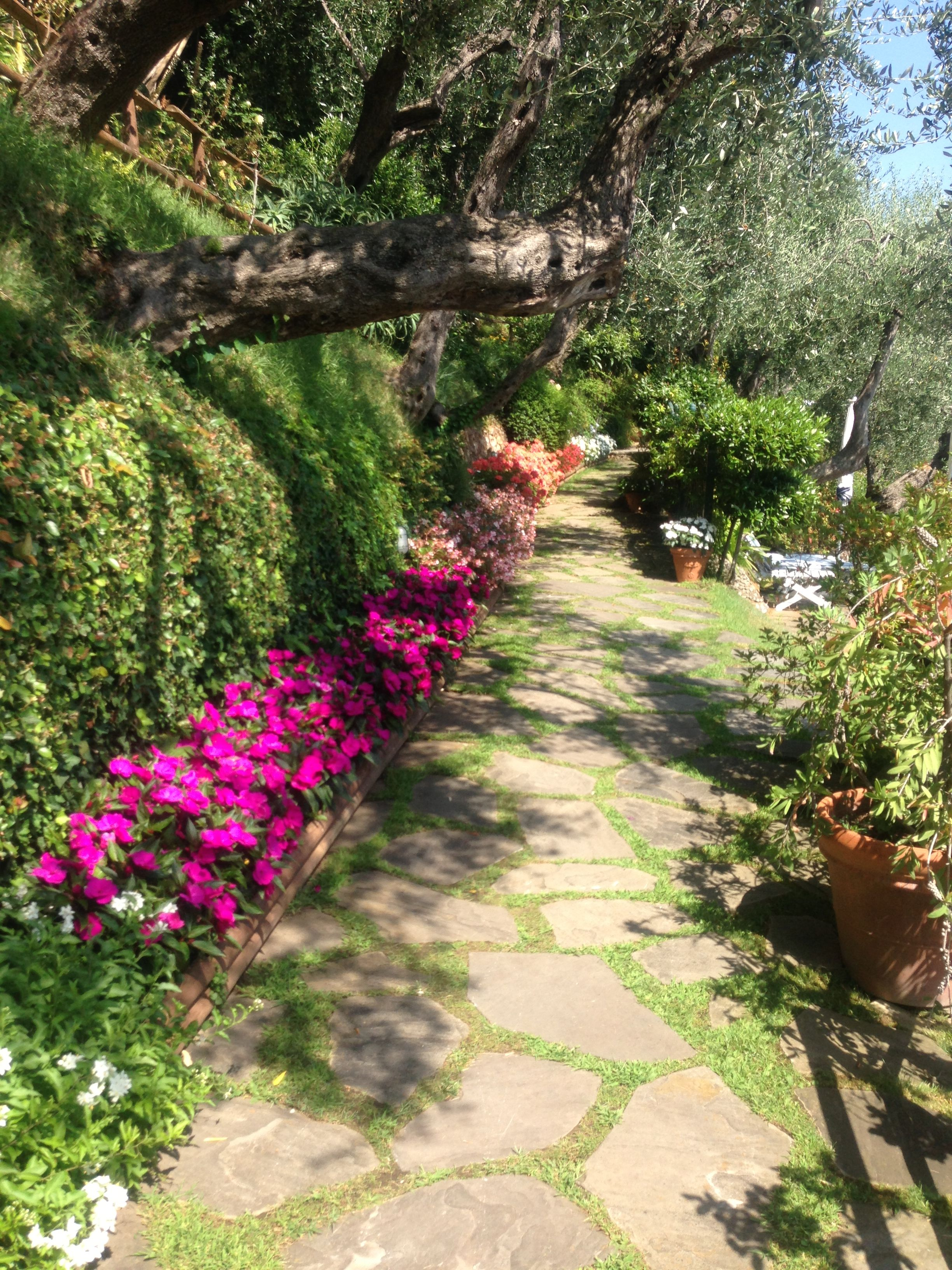 Gardens at the Splendido Hotel in Portofino, Italy