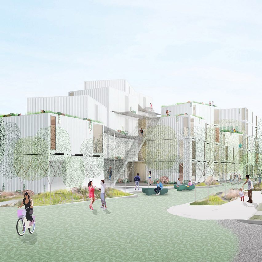 Loha Designs Affordable Housing Complex For Difficult Site In Los Angeles Affordable Housing Shipping Container Site Plan