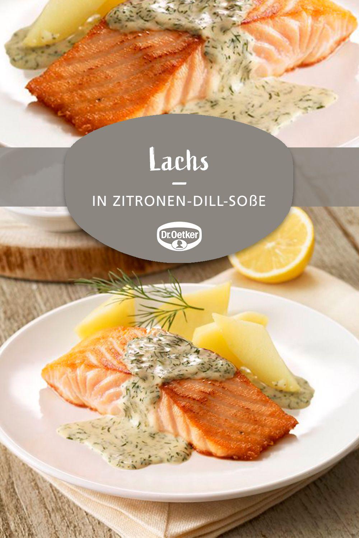 Lachs in Zitronen-Dill-Soße