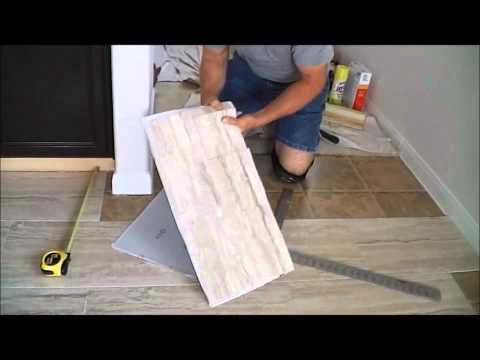 TrafficMaster Ceramica X Vinyl Tile Floor Installation - Vinyl flooring youtube