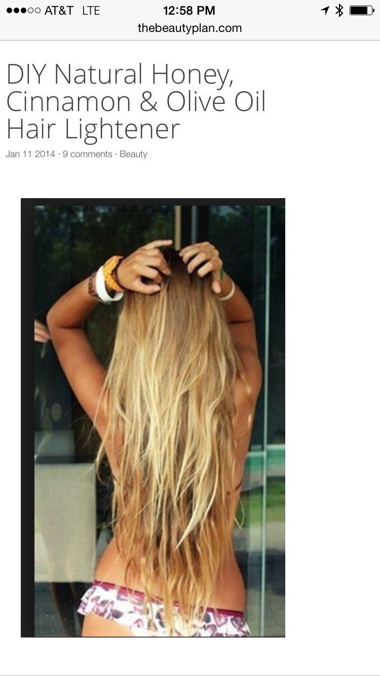 DIY Natural Hair Lightener How to lighten hair, Natural