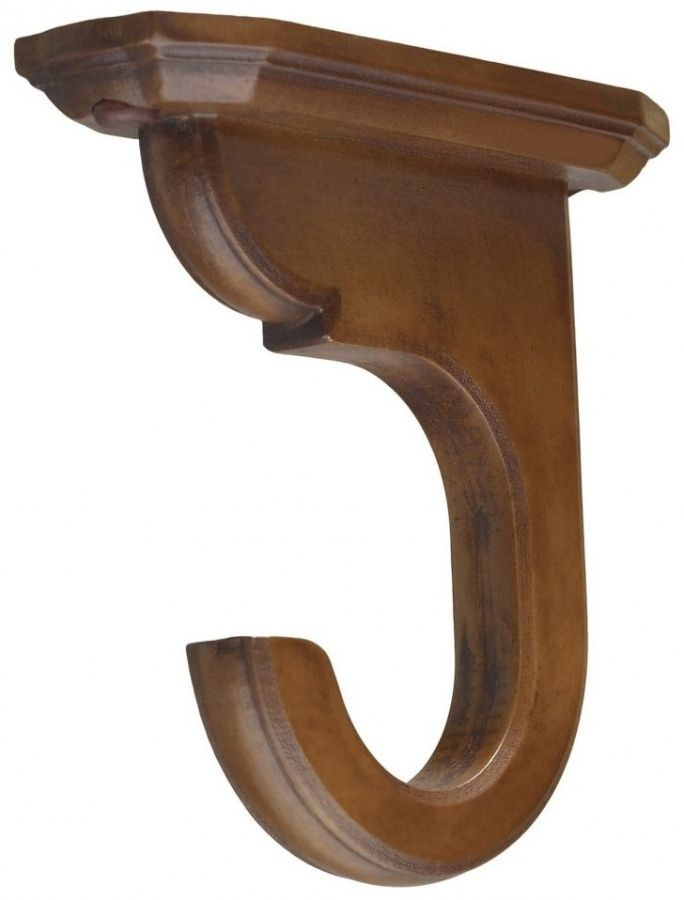 Accessories Wood Curtain Rod Brackets For Brilliant Shelf Intended Wooden Holders