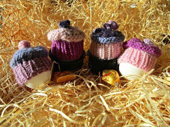 Hat easter egg Knitted egg cosies Egg warmer by IrinasSTRICKMODE