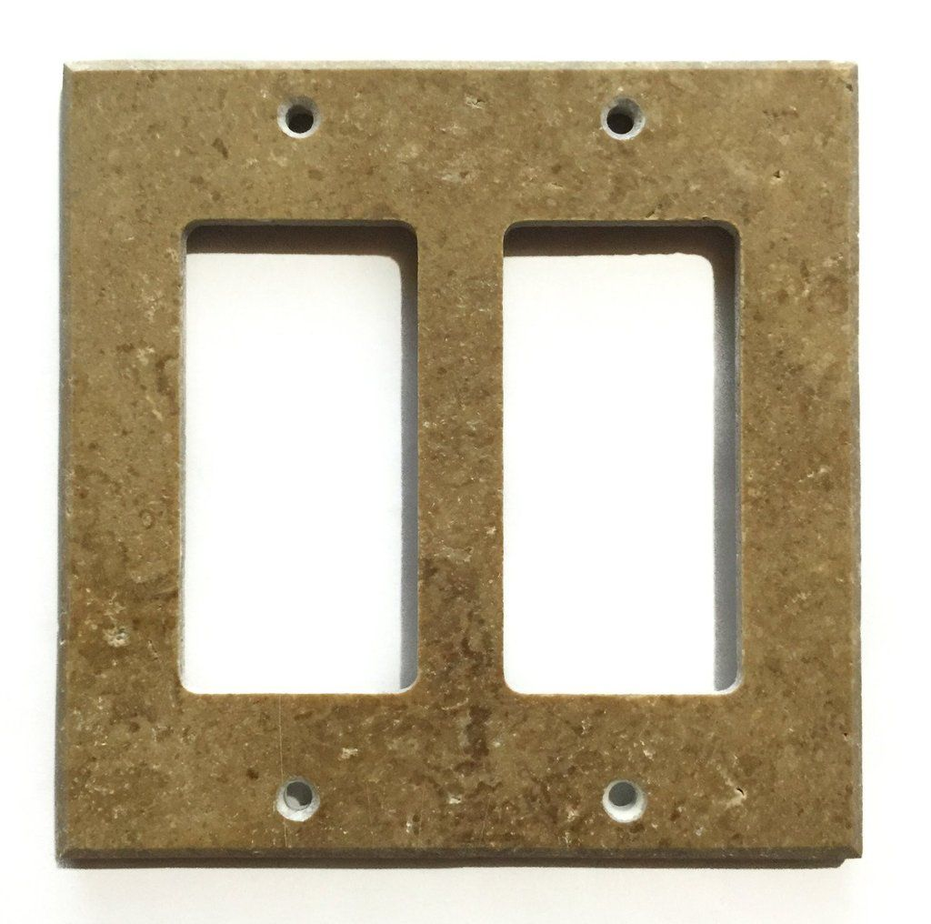 Rocker Switch Plate Fair Noce Travertine Double Rocker Switch Wall Plate  Switch Plate Inspiration