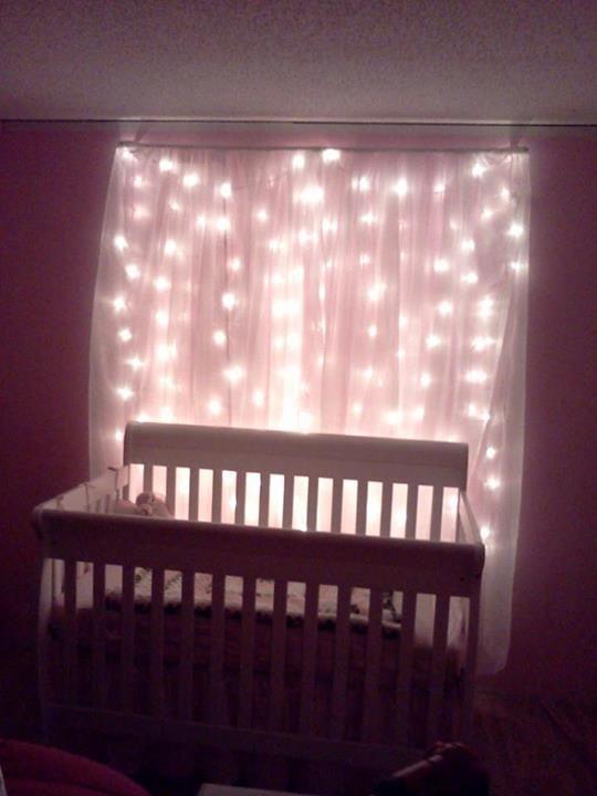Handmade cotton crib//toddler sheet// black with Christmas Lights