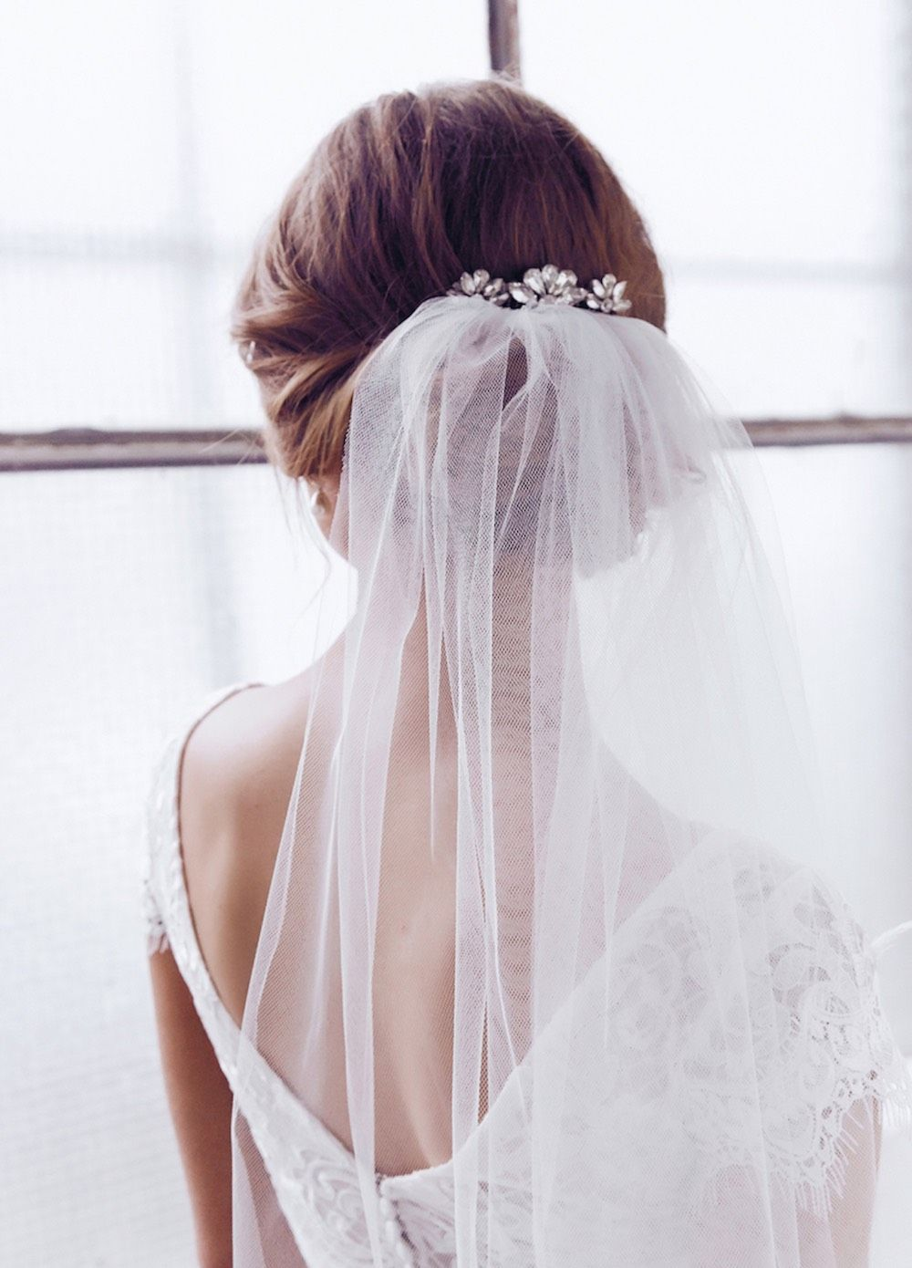 Sienna Comb Single Tier Veil Bridal Hair | Anna Campbell Ceremony ...